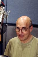 THE SPONGEBOB SQUAREPANTS MOVIE, the voice of King Neptune Jeffrey Tambor in the recording studio, 2004, (c) Paramount