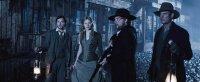 BLOOD MOON, from left: George Blagden, Amber Jean Rowan, Shaun Dooley, Jack Fox, 2014. © Uncork'd Entertainment