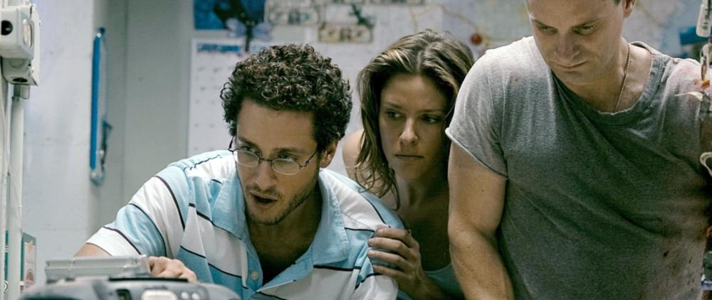 SPLINTER, from left: Paulo Costanzo, Jill Wagner, Shea Whigham, 2008. ©Magnolia Pictures