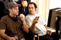 SOUTHLAND TALES, director Richard Kelly, producer Sean McKittrick, on set, 2006. ©Universal