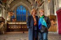 DENIAL, from left: Rachel Weisz, historian Deborah Lipstadt, 2016. ph: Liam Daniel/© Bleecker Street Media