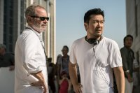 STAR TREK BEYOND, from left: executive producer Jeffrey Chernov, director Justin Lin, on set, 2016. ph: Kimberley French/© Paramount Pictures