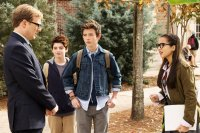 MIDDLE SCHOOL: THE WORST YEARS OF MY LIFE, from left: Andrew Daly, Thomas Barbusca, Griffin Gluck, Isabela Moner, 2016. ph: Frank Masi/© CBS