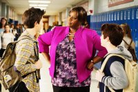 MIDDLE SCHOOL: THE WORST YEARS OF MY LIFE, from left: Griffin Gluck, Retta, Thomas Barbusca, 2016. ph: Frank Masi/© CBS