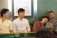 FRONT COVER, from left: James Chen, Jake Choi, Elizabeth Sung, Ming Lee, 2015. © Strand Releasing