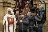 BEN-HUR, from left: Morgan Freeman, director Timur Belmambetov, on set, 2016. ph: Philippe Antonello/© Paramount Pictures