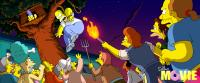 THE SIMPSONS MOVIE, family, in treehouse, l-r: Lisa Simpson (voice: Yeardley Smith), Marge Simpson (voice: Julie Kavner), Maggie Simpson,  Bart Simpson (voice: Nancy Cartwright), above crowd: Homer Simpson (voice: Dan Castellaneta), 2007. TM & copyright ©2