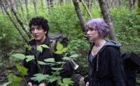BLAIR WITCH, (aka THE WOODS), from left: Wes Robinson, Valorie Curry, 2016. ph: Chris Helcermanas-Benge/© Lionsgate