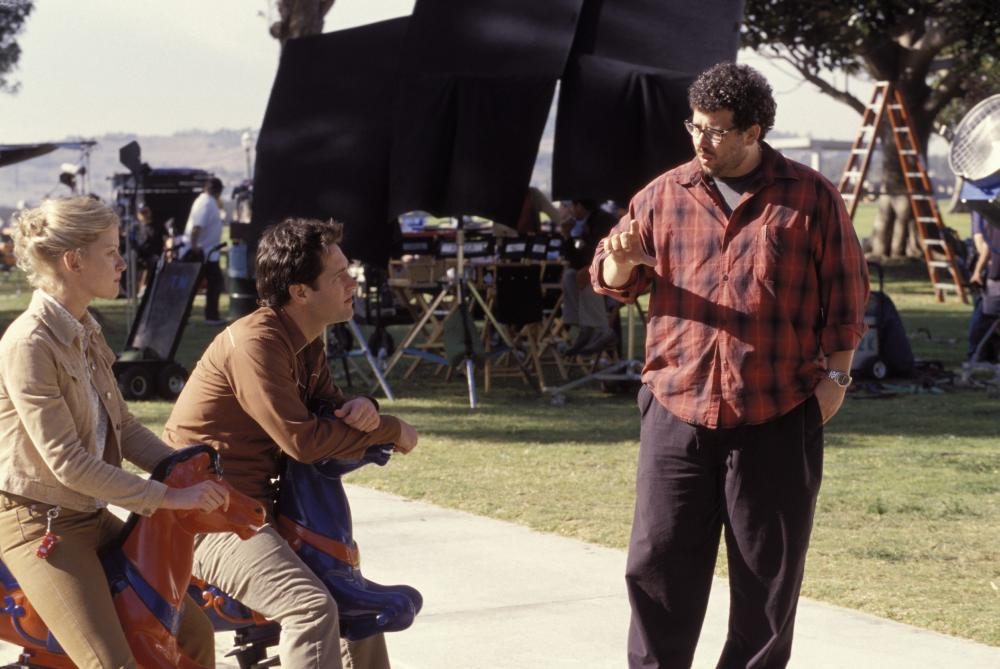 THE SHAPE OF THINGS, Gretchen Mol, Paul Rudd, director Neil LaBute on the set, 2003, (c) Focus Features
