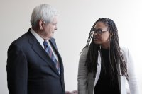 13th, (aka THE 13TH), from left: Newt Gingrich, director Ava DuVernay, 2016.  ©Netflix