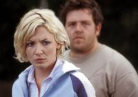 SHAUN OF THE DEAD, Kate Ashfield, Nick Frost, 2004, (c) Rogue Pictures