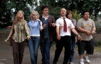 SHAUN OF THE DEAD, Lucy Davis, Kate Ashfield, Dylan Moran, Simon Pegg, Penelope Wilton, Nick Frost, 2004, (c) Rogue Pictures