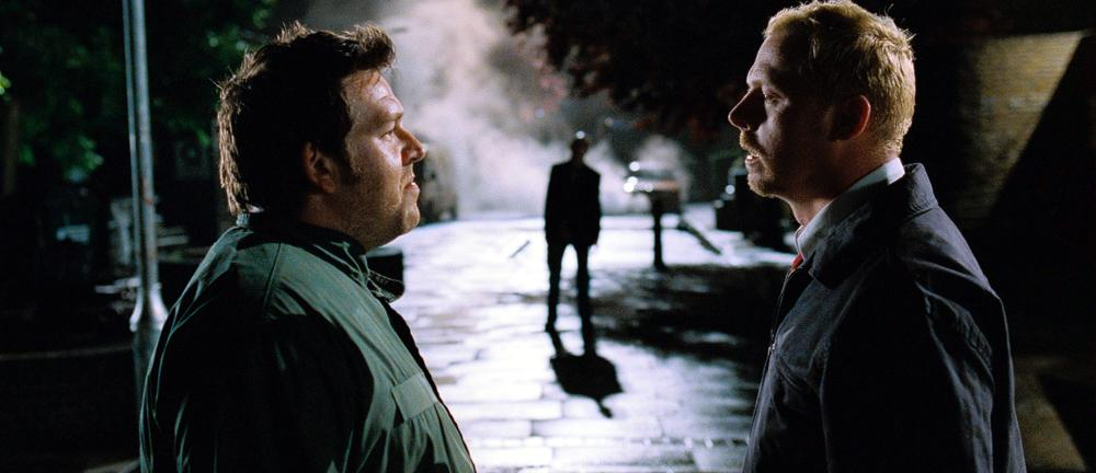 SHAUN OF THE DEAD, Nick Frost, Simon Pegg, 2004, (c) Rogue Pictures
