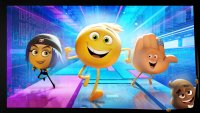 EMOJIMOVIE: EXPRESS YOURSELF, back, from left: Jailbreak (voice: Ilana Glazer), Gene (voice: T.J. Miller), Hi-5 (voice: James Corden), 2017. © Columbia Pictures