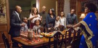 ALMOST CHRISTMAS, l-r: Romany Malco, Alkoya Brunson, Nicole Ari Parker, Marley Taylor, JB Smoove, Kimberly Elise, Nadej Bailey, Gabrielle Union, Danny Glover, Mo'Nique, 2016. ph: Quantrell D. Colbert/©Universal Pictures