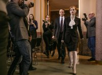 MISS SLOANE, from left, David Wilson Barnes, Jessica Chastain, 2016, ph: Kerry Hayes ©EuropaCorp USA