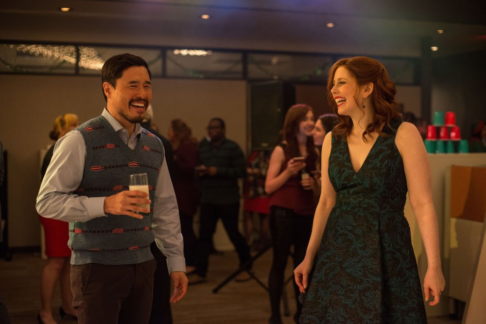 OFFICE CHRISTMAS PARTY, l-r: Randall Park, Vanessa Bayer, 2016. ph: Glen Wilson/©Paramount Pictures