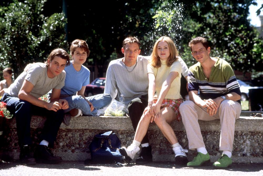 SCREAM, Skeet Ulrich, Neve Campbell, Matthew Lillard, Rose McGowan, Jamie Kennedy, 1996, (c) Dimension