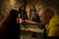 SPLIT, L-R: ANYA TAYLOR-JOY, HALEY LU RICHARDSON, JESSICA SULA, JAMES MCAVOY, 2016. PH: JOHN BAER/©UNIVERSAL PICTURES