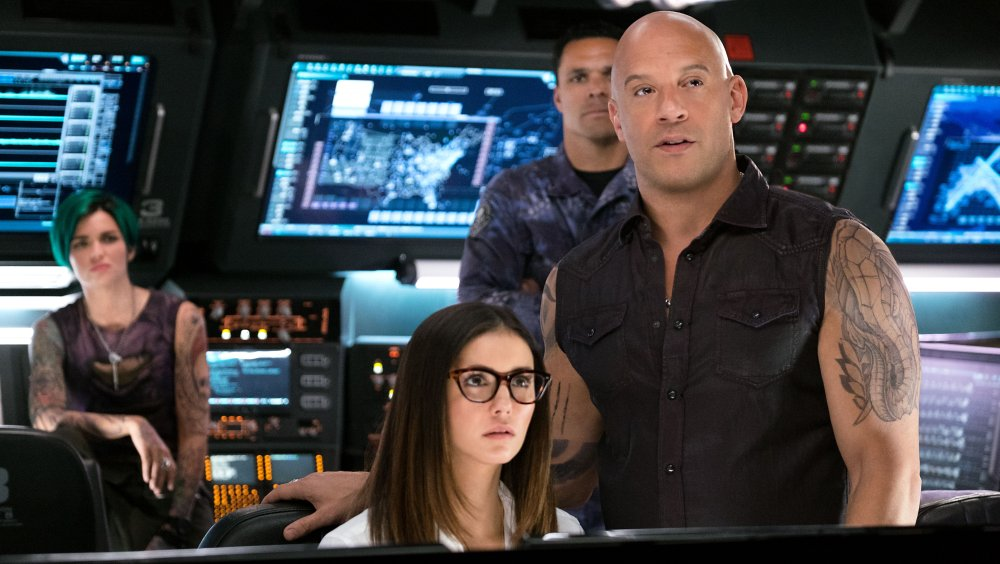 XXX: RETURN OF XANDER CAGE, FROM LEFT: RUBY ROSE, NINA DOBREV, TONY GONZALEZ, VIN DIESEL, 2017. PH: GEORGE KRAYCHYK/© PARAMOUNT