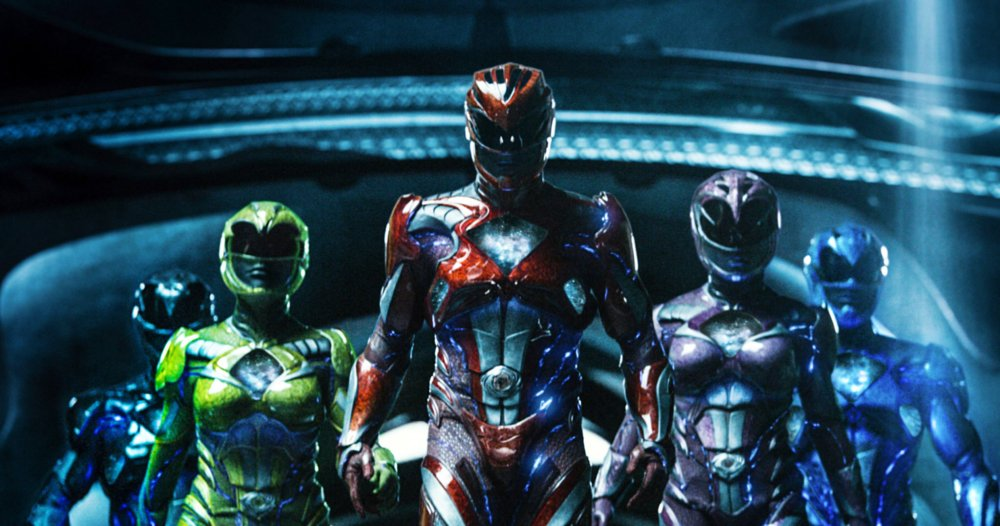 POWER RANGERS, FROM LEFT: LUDI LIN, BECKY G., DACRE MONTGOMERY, NAOMI SCOTT, RJ CYLER, 2017./© LIONSGATE