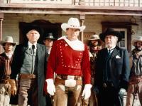 RUSTLER'S RHAPSODY, Andy Griffith, Patrick Wayne, Fernando Rey, 1985. ©Paramount