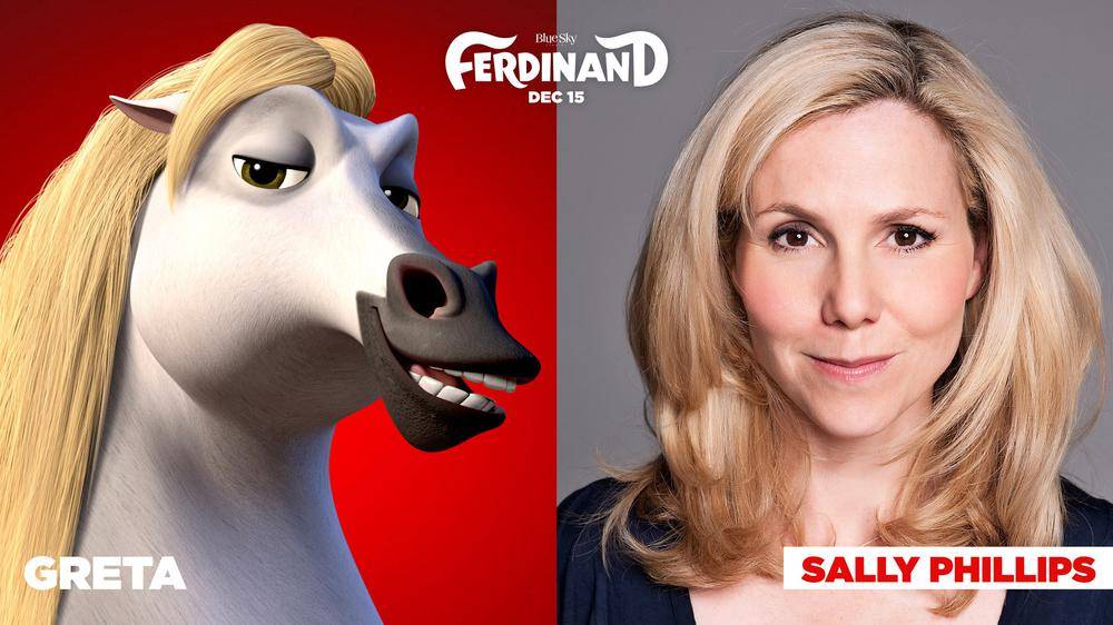 FERDINAND, SALLY PHILLIPS, VOICE OF GRETA, 2017. TM AND COPYRIGHT ©20TH CENTURY FOX FILM CORP. ALL RIGHTS RESERVED