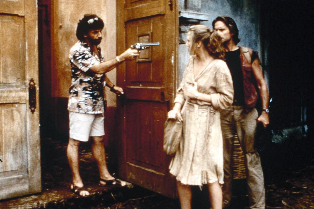 ROMANCING THE STONE, Alfonso Arau, Kathleen Turner, Michael Douglas, 1984, TM & Copyright (c) 20th Century Fox Film Corp.