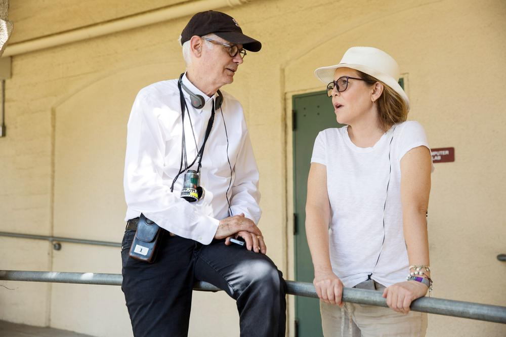 UNFORGETTABLE, FROM LEFT, CINEMATOGRAPHER CALEB DESCHANEL, DIRECTOR DENISE DI NOVI, ON-SET, 2017. PH: KAREN BALLARD. ©WARNER BROS.