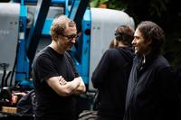 THE LOST CITY OF Z, FROM LEFT: DIRECTOR JAMES GRAY, PRODUCER JEREMY KLEINER, ON SET, 2016. PH: AIDAN MONAGHAN/© BLEECKER STREET MEDIA