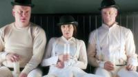 MY ART, FROM LEFT: ROBERT CLOHESSY, LAURIE SIMMONS, JOHN ROTHMAN, IMPERSONATING SCENE FROM 'A CLOCKWORK ORANGE', 2016.