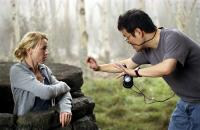 THE RING TWO, Naomi Watts, director Hideo Nakata on set, 2005, (c) DreamWorks