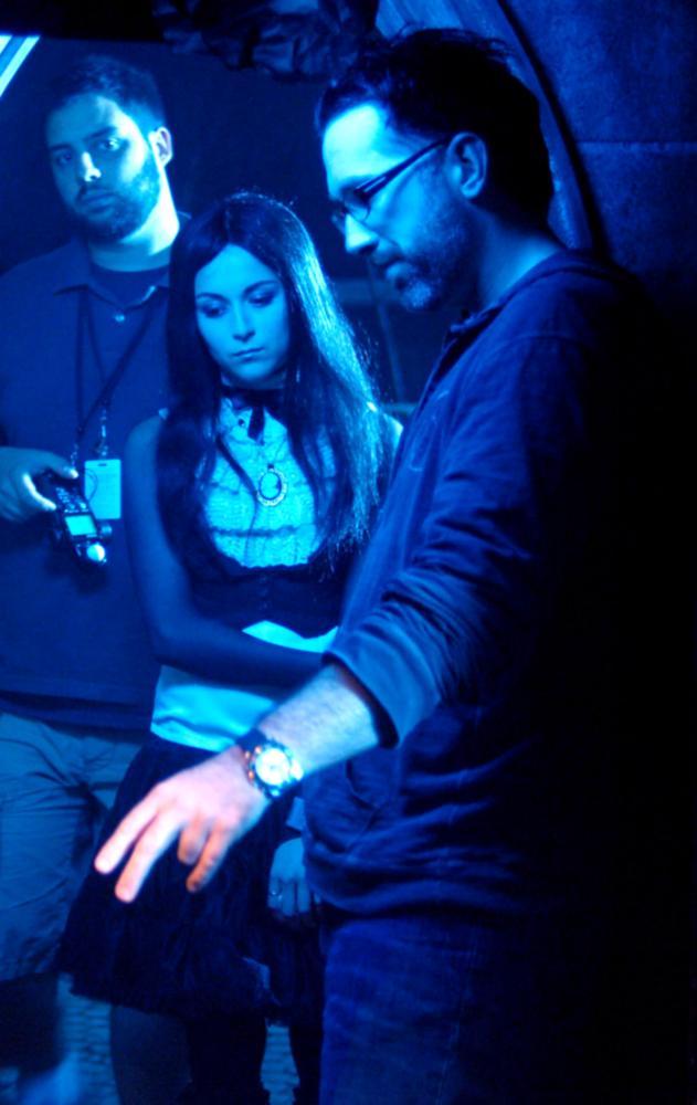 REPO! THE GENETIC OPERA, Alexa Vega (center), director Darren Lynn Bousman (right), on set, 2008. ©LionsGate