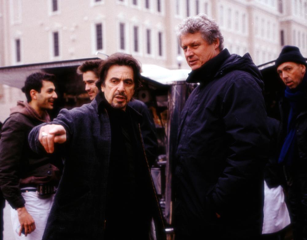 THE RECRUIT, Al Pacino, director Roger Donaldson on the set, 2003, (c) Walt Disney