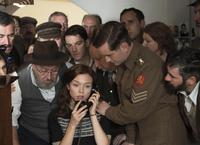 WHISKY GALORE, (AKA WHISKY GALORE!), GREGOR FISHER (LEFT, BEARD), NAOMI BATTRICK (ON TELEPHONE), 2016. © ARROW FILMS
