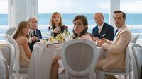 HAPPY END, FROM LEFT: FANTINE HARDUIN, JEAN-LOUIS TRINTIGNANT, ISABELLE HUPPERT, LAURA VERLINDEN, TOBY JONES, MATHIEU KASSOVITZ, 2017. © SONY PICTURES CLASSICS