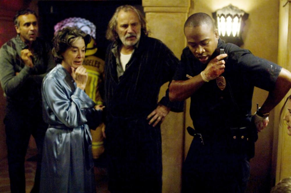 QUARANTINE, Rade Serbedzija (second from left), Columbus Short (right), 2008. ©Screen Gems
