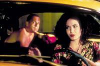PULP FICTION, from left: Bruce Willis, Julia Sweeney, 1994, © Miramax