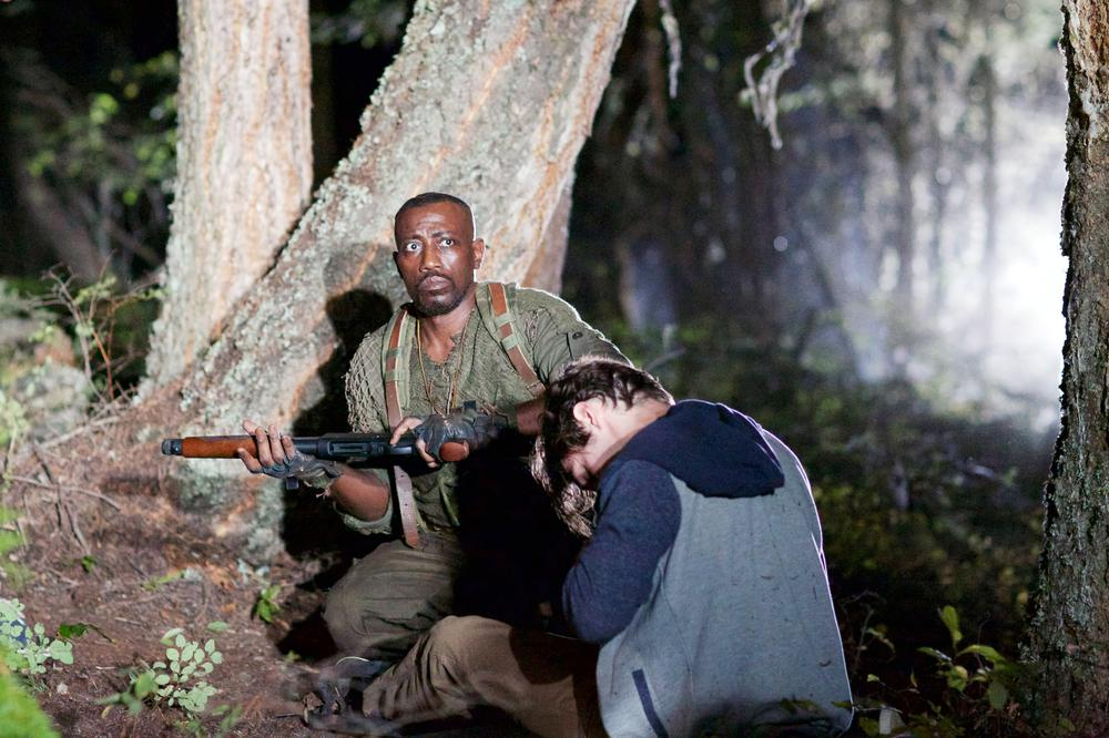 THE RECALL, FROM LEFT: WESLEY SNIPES, RJ MITTE, 2017. PH: DARREN HULL/© GREEN APPLE ENTERTAINMENT