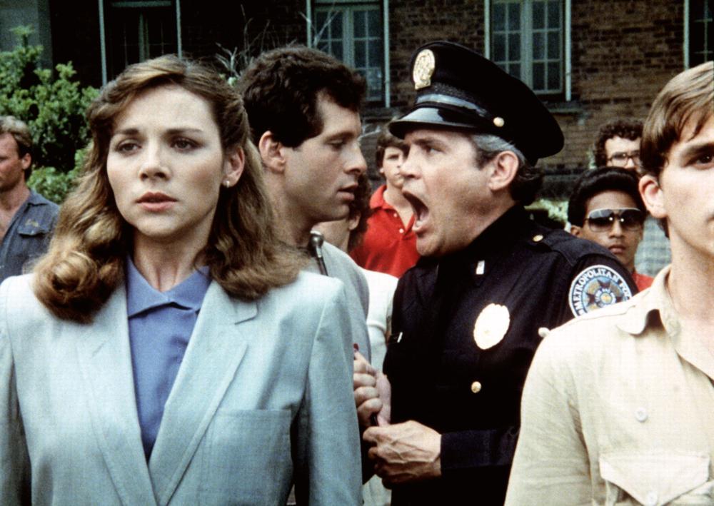 POLICE ACADEMY, Kim Cattrall, Steve Guttenberg, G.W. Bailey, 1984, (c) Warner Brothers
