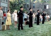 POLICE ACADEMY, Leslie Easterbrook (front second left), 1984, (c) Warner Brothers