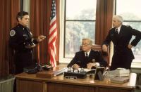 POLICE ACADEMY, G.W. Bailey, George Gaynes, George R. Robertson, 1984, (c) Warner Brothers