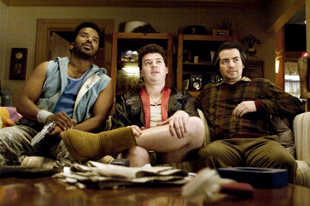 PINEAPPLE EXPRESS, from left: Craig Robinson, Danny McBride, Kevin Corrigan, 2008. ©Columbia Pictures