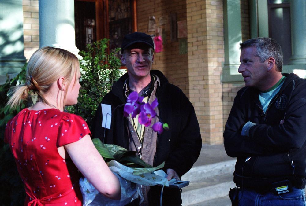 THE PERFECT MAN, Hilary Duff, director Mark Rosman, producer Marc Platt on set, 2005, (c) Universal