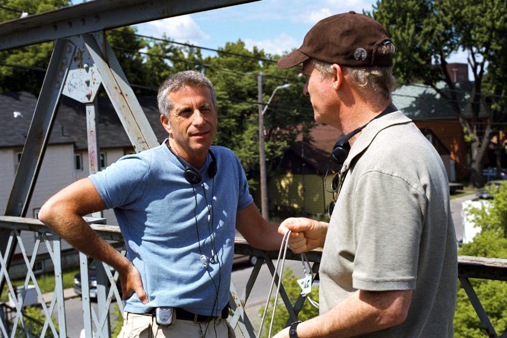 THE PERFECT MAN, director Mark Rosman, producer Marc Platt on set, 2005, (c) Universal