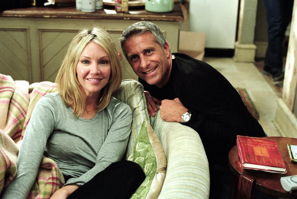 THE PERFECT MAN, Heather Locklear, director Mark Rosman on set, 2005, (c) Universal