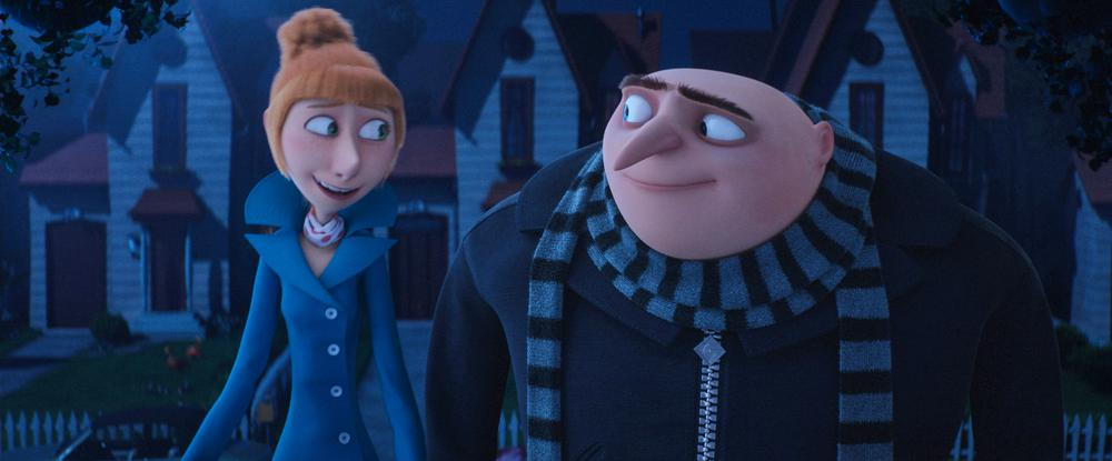 DESPICABLE ME 3, L-R: LUCY WILDE (VOICE: KRISTEN WIIG), GRU (VOICE: STEVE CARELL), 2017. ©UNIVERSAL PICTURES
