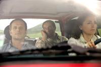 PAR SUITE D'UN ARRET DE TRAVAIL DU PERSONNEL, from left, in car: Charles Berling, Patrick Timsit, Dominique Blanc, 2008. ©Wild Bunch Distribution