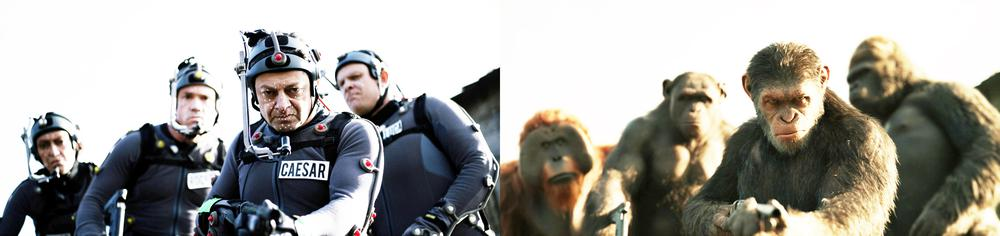 WAR FOR THE PLANET OF THE APES, FROM LEFT, KARIN KONOVAL AS MAURICE, TERRY NOTARY AS ROCKET, ANDY SERKIS AS CAESAR, MICHAEL ADAMTHWAITE AS LUCA, 2017. TM AND COPYRIGHT ©20TH CENTURY FOX FILM CORP. ALL RIGHTS RESERVED