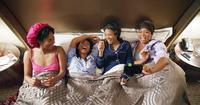 GIRLS TRIP, FROM LEFT, TIFFANY HADDISH, JADA PINKETT SMITH, REGINA HALL, QUEEN LATIFAH, 2017. ©UNIVERSAL PICTURES